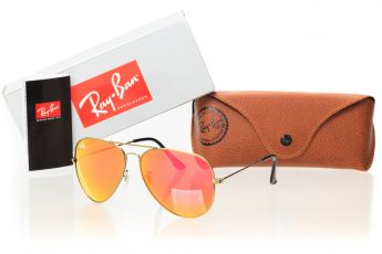 Ray Ban Original 3026D-pink-bronze